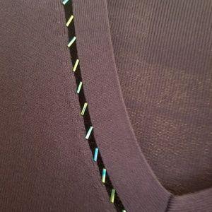 Maggie Barnes Tops - Maggie Barnes 1x Vneck Light Ribbed Sweater